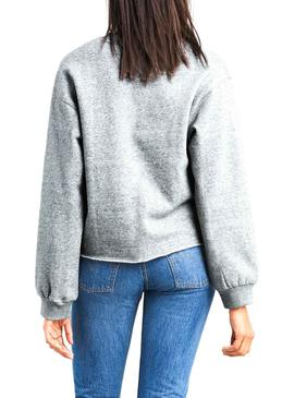 Sudadera Levis Annice Gris Mujer