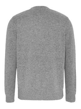 Jersey Tommy Jeans Light Blend Gris para Hombre