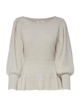 Jersey Only Olina Beige para Mujer