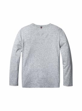 Camiseta Tommy Hilfiger Denim Basic Gris