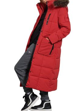 Chaqueta Superdry Everest Rojo para Mujer