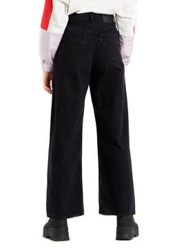 Pantalon Levis High Loose Trainwreck Negro Mujer