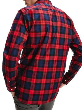 Camisa Tommy Hilfiger Watch Check Rojo Hombre