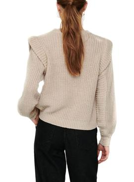 Jersey Only Lexine Beige para Mujer