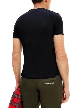Camiseta Tommy Jeans Stretch Negro para Hombre
