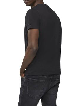 Camiseta Tommy Jeans Contrast Negro para Hombre