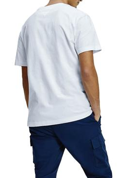 Camiseta Tommy Jeans Linear Logo Blanco Hombre