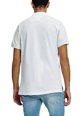 Polo Tommy Jeans Badge Blanco para Hombre