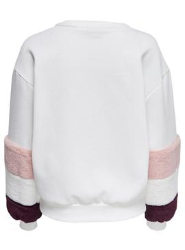 Sudadera Only Saga Blanco