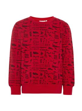 Sudadera Name It Molando Rojo