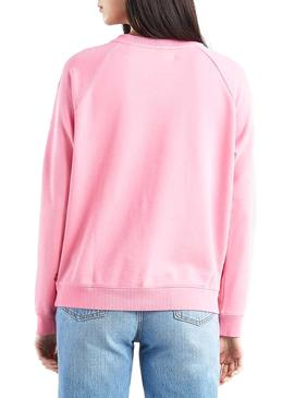 Sudadera Levis Relaxed Graphic Rosa Mujer