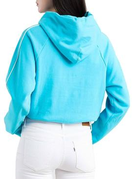 Sudadera Levis Cinched Hoodie Azul Mujer