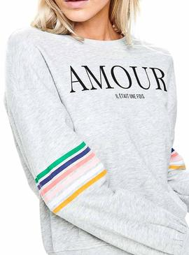 Sudadera Only Daisy Gris Mujer