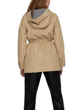 Chubasquero Only Race Beige para Mujer