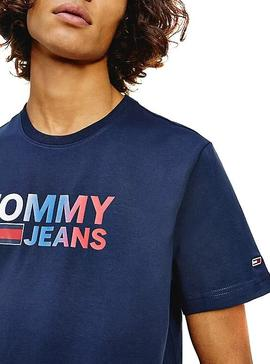 Camiseta Tommy Jeans Color Corp Azul Marino Hombre