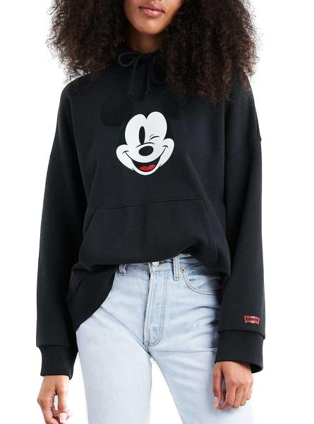 Sudadera Mickey lentejuelas manga larga negro